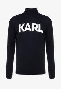 KARL LAGERFELD - ROLLNECK - Pullover - black - 3
