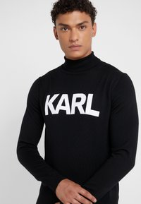 KARL LAGERFELD - ROLLNECK - Pullover - black - 4