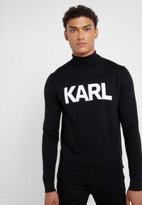 KARL LAGERFELD - ROLLNECK - Pullover - black - 0