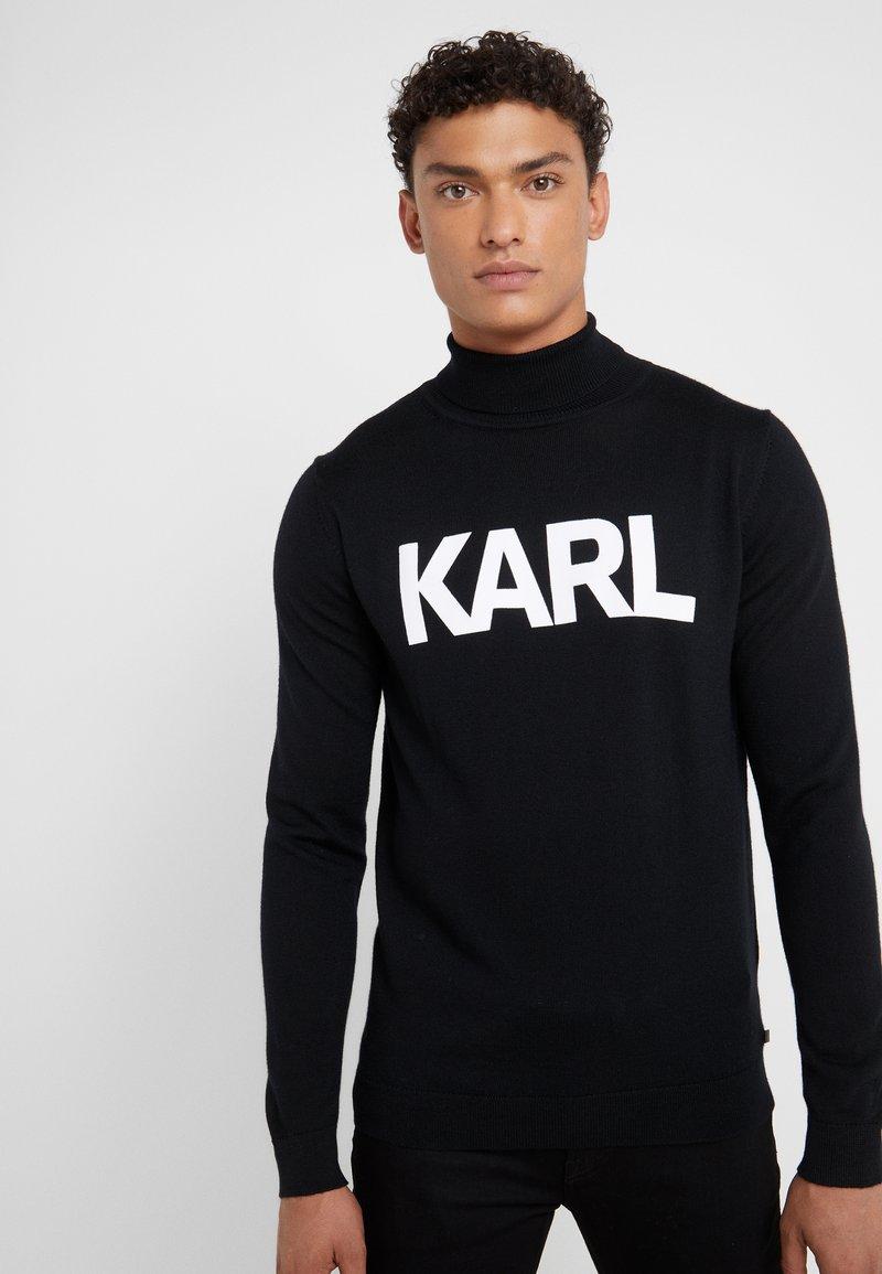 KARL LAGERFELD - ROLLNECK - Jersey de punto - black