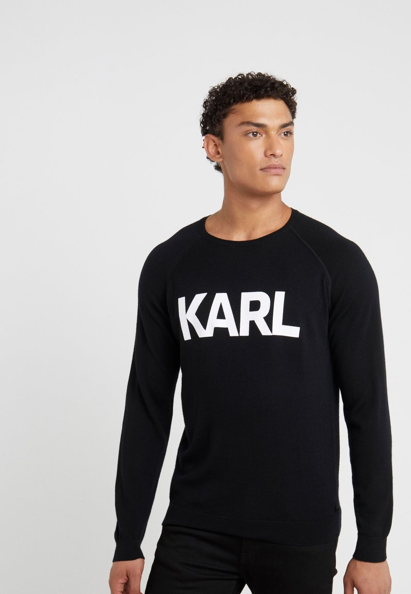 KARL LAGERFELD - CREWNECK - Jersey de punto - black