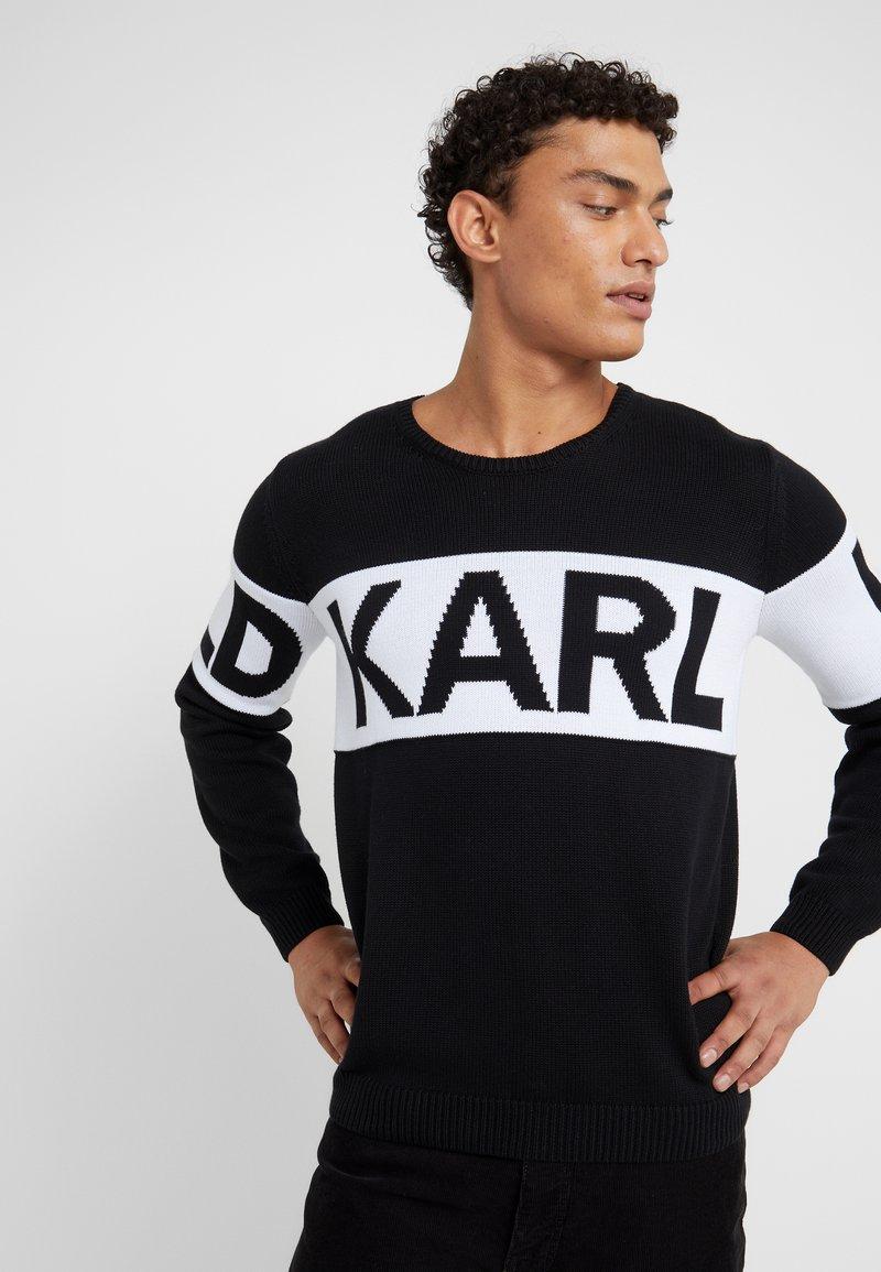 CrewneckPullover Black Lagerfeld Karl Lagerfeld CrewneckPullover Karl ZuTwOlPkXi