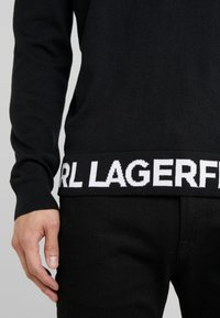 KARL LAGERFELD - CREWNECK REV - Pullover - black - 6
