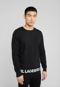 KARL LAGERFELD - CREWNECK REV - Pullover - black - 0