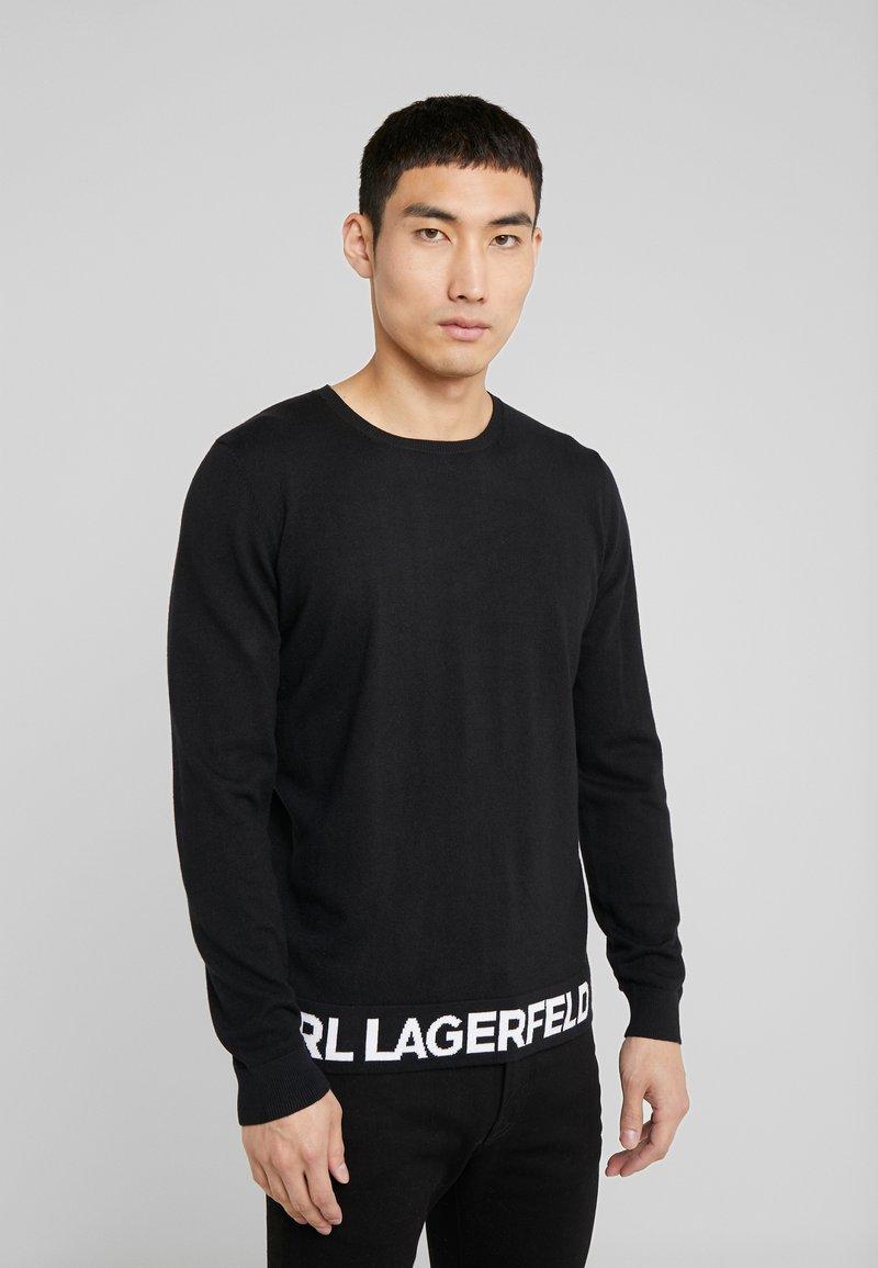 KARL LAGERFELD - CREWNECK REV - Jersey de punto - black