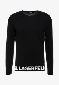 KARL LAGERFELD - CREWNECK REV - Pullover - black - 5