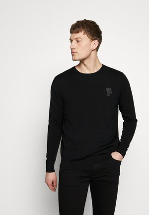CREWNECK - Stickad tröja - black
