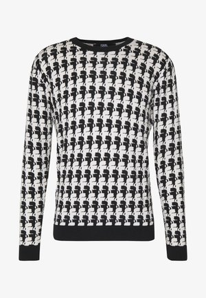 KNIT CREWNECK - Maglione - black/white