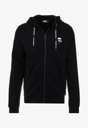 HOODY JACKET - veste en sweat zippée - black