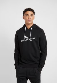 KARL LAGERFELD - HOODY - Jersey con capucha - black - 0