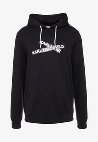 KARL LAGERFELD - HOODY - Jersey con capucha - black - 4
