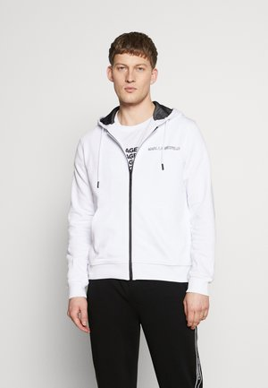 HOODY JACKET - veste en sweat zippée - white