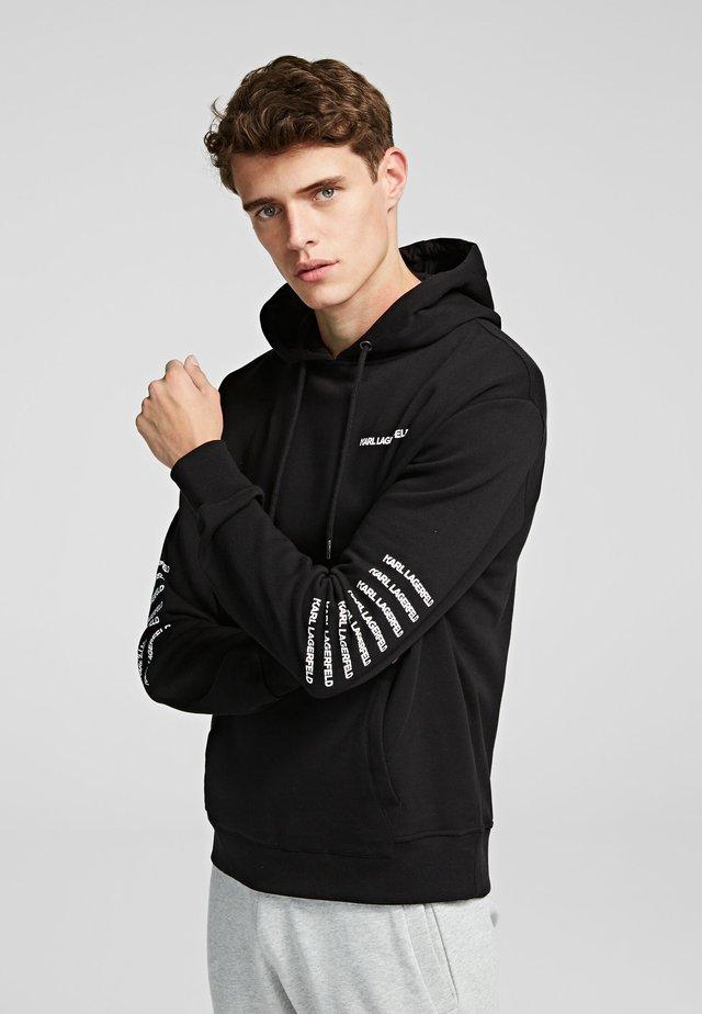 REPETITION LOGO  - Jersey con capucha - black