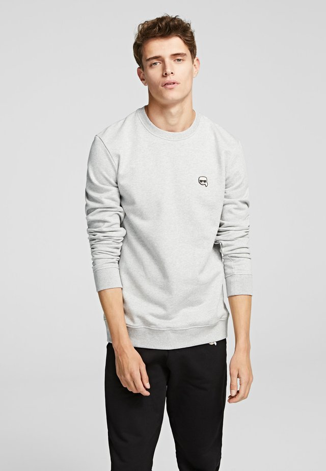 RUBBER KARL PATCH - Sweatshirt - grey melange