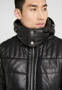 KARL LAGERFELD - Giacca di pelle - black - 4