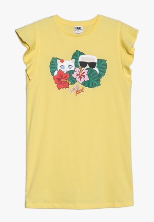 ROBE MANCHES COURTES - Jersey dress - yellow