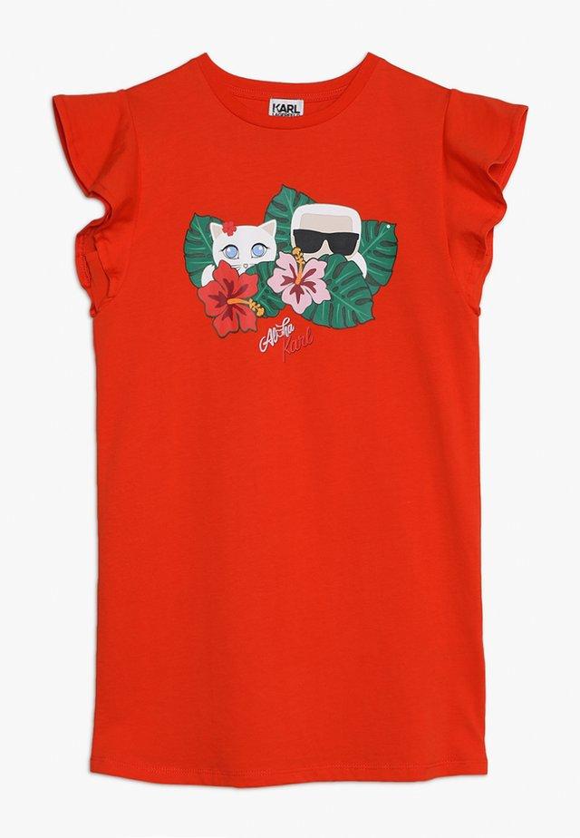 ROBE MANCHES COURTES - Jerseykleid - red
