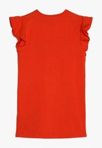 KARL LAGERFELD - ROBE MANCHES COURTES - Žerzejové šaty - red - 1