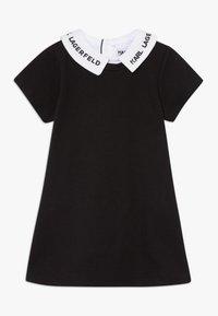 KARL LAGERFELD - DRESS BABY - Žerzejové šaty - blackwhite - 0