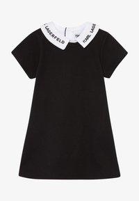 KARL LAGERFELD - DRESS BABY - Žerzejové šaty - blackwhite - 3