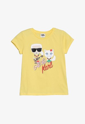 TEE MANCHES COURTES - Print T-shirt - yellow