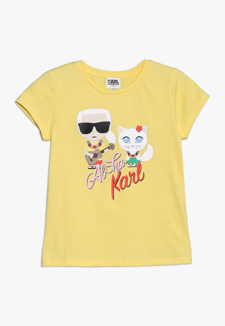 KARL LAGERFELD - TEE MANCHES COURTES - T-shirts print - yellow