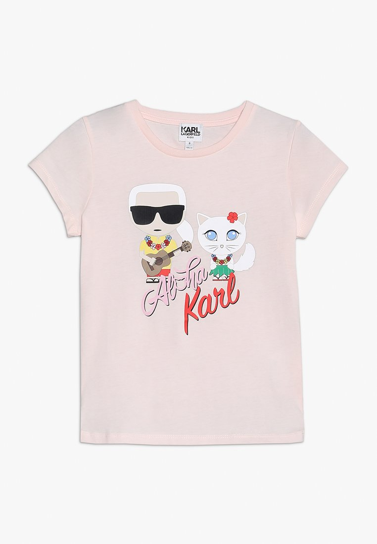 KARL LAGERFELD - TEE MANCHES COURTES - T-Shirt print - pink