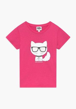 SHORT SLEEVES TEE - Print T-shirt - rasberry