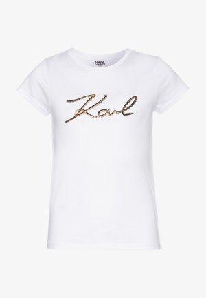 SHORT SLEEVES - Print T-shirt - white