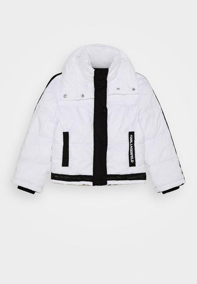 PUFFER JACKET - Veste d'hiver - white/black