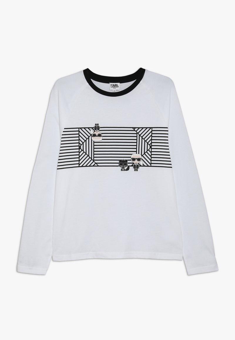 KARL LAGERFELD - Long sleeved top - weiß