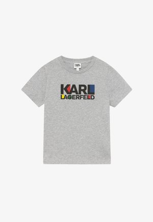 SHORT SLEEVES TEE - Triko s potiskem - chine grey