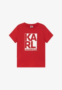 KARL LAGERFELD - SHORT SLEEVES TEE - Print T-shirt - poppy - 2