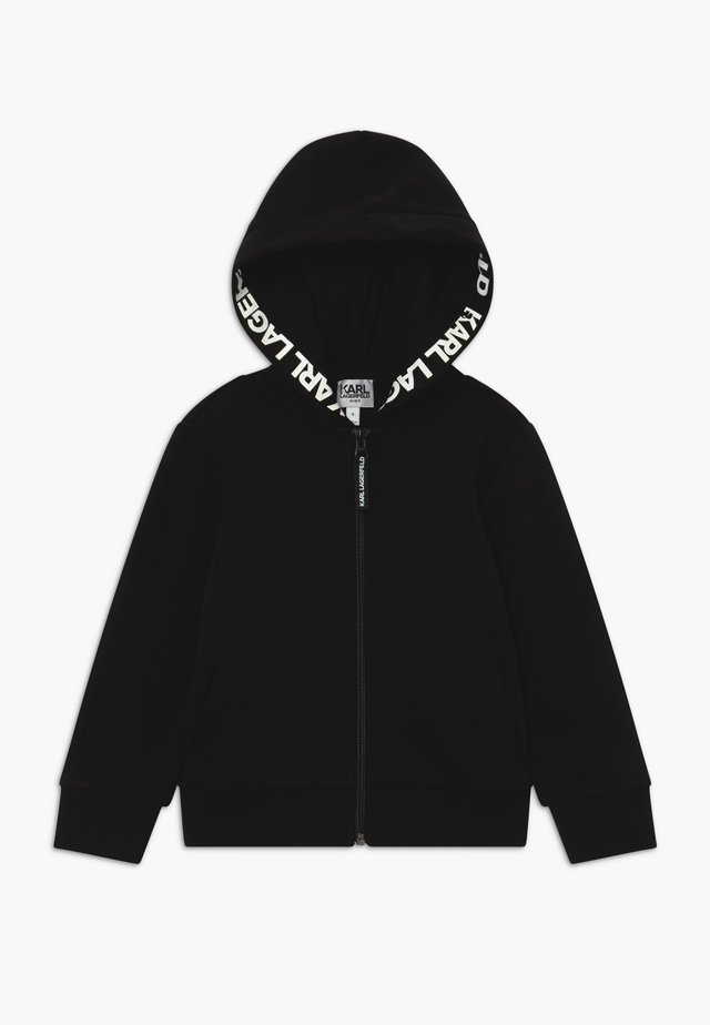 HOODED - Sweatjakke /Træningstrøjer - black
