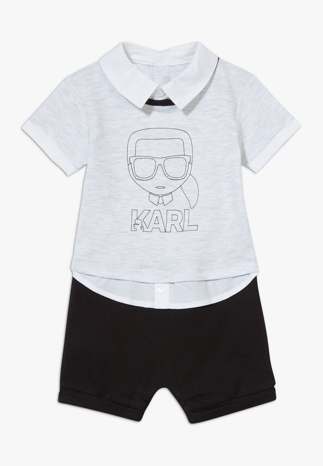 ALL IN ONE BABY - Overal - grey/black