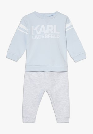 TROUSERS SET BABY - Sweater - greypale blue