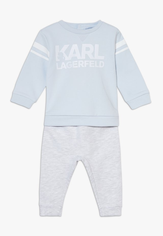 TROUSERS SET BABY - Mikina - greypale blue