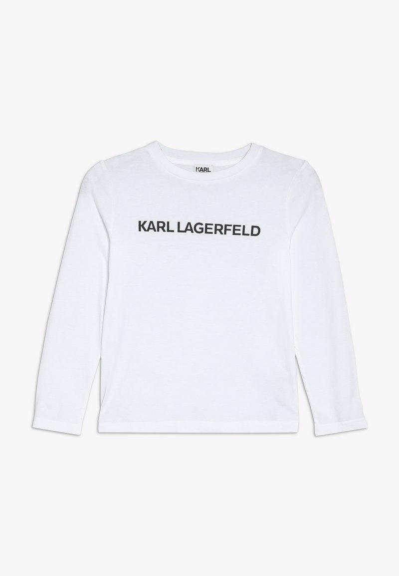 KARL LAGERFELD - Pitkähihainen paita - weiss
