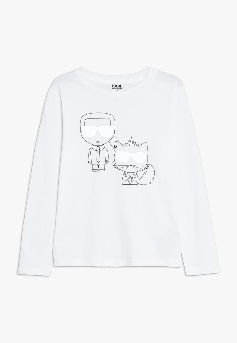 KARL LAGERFELD - Pitkähihainen paita - weiß