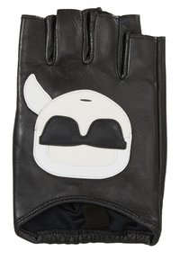 KARL LAGERFELD - IKONIK GLOVE - Fingerless gloves - black - 2