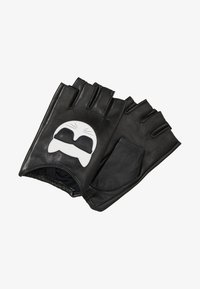 KARL LAGERFELD - IKONIK GLOVE - Fingerless gloves - black - 1