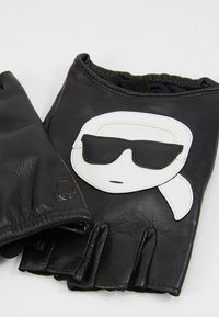 KARL LAGERFELD - IKONIK GLOVE - Fingerless gloves - black - 4