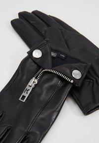 KARL LAGERFELD - K/KARL BIKER JACKET GLOVE - Gloves - black - 4