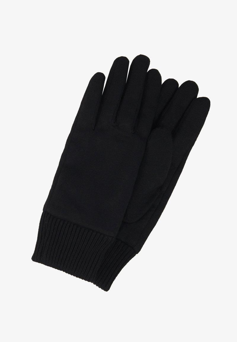 KARL LAGERFELD - IKONIK PATCH GLOVE - Gloves - black