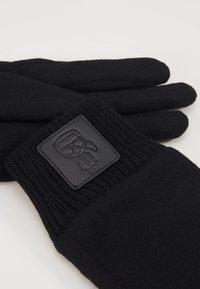 KARL LAGERFELD - IKONIK PATCH GLOVE - Gloves - black - 3