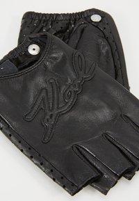 KARL LAGERFELD - SIGNATURE GLOVE - Fingerless gloves - black - 2
