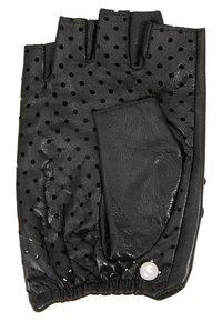 KARL LAGERFELD - SIGNATURE GLOVE - Fingerless gloves - black - 3