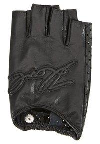 KARL LAGERFELD - SIGNATURE GLOVE - Fingerless gloves - black - 0