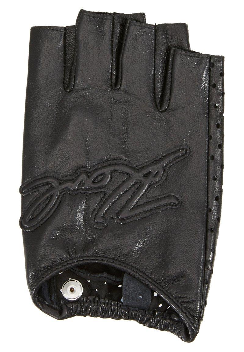 KARL LAGERFELD - SIGNATURE GLOVE - Fingerless gloves - black