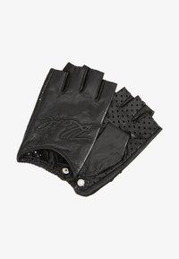 KARL LAGERFELD - SIGNATURE GLOVE - Fingerless gloves - black - 1